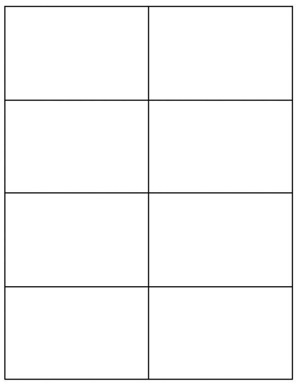 8-1/2'' x 11' White Blank Square Corner